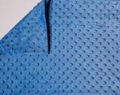 Minky Pillowcase - Standard size - Queen size - Cobalt Blue