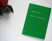 "Christmas Card - Happy Holiday and nucleotide sequence - 10 cm x 15 cm - 5"" x 7"""