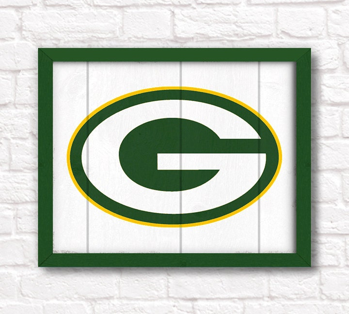 GREEN BAY PACKERS home decor Boys room or man cave rustic