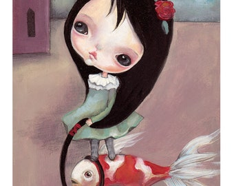 "Original oil painting..for 'cooky dolls"",OOAK"