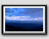 Cloud Fine Art Photo Print: Tasting Clouds Purple Indigo Perspective Mountain Photograph