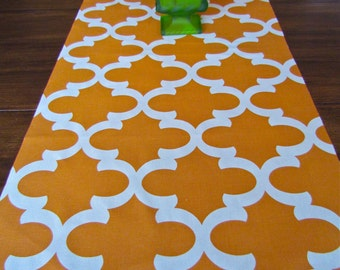 ORANGE TABLE RUNNER 12x60 Pumpkin Orange Table Runners Wedding Shower Decorative Holiday Party 13x72 Table Runner Home and Living