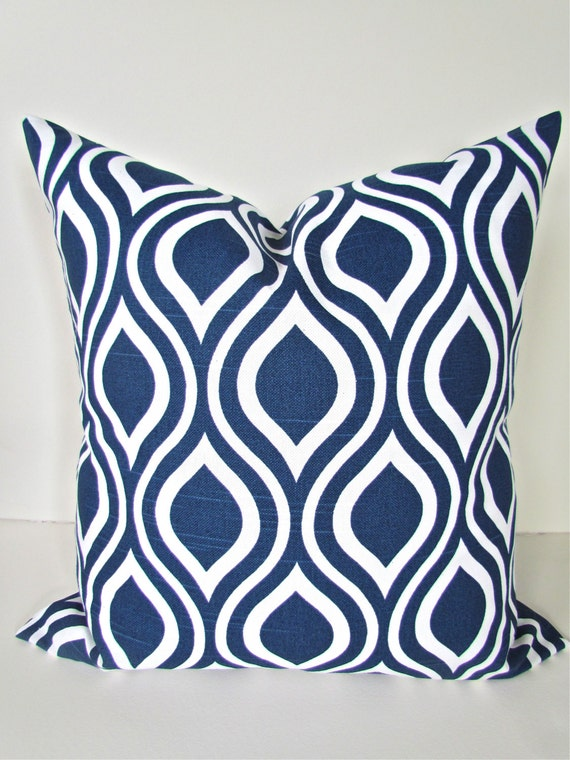 Dark Blue Throw Pillow : Items similar to DARK BLUE PILLOW 18x18 Decorative Throw Pillows 18 x 18 Navy Blue Throw Pillow ...