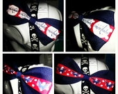 Washington Capitals: Navy Blue, Red, and White Ribbon Hair Bow