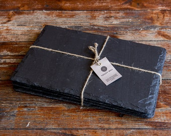 Large Welsh Slate placemats set of 6