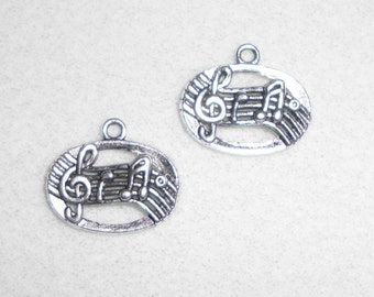 Silver Music Notes Charms