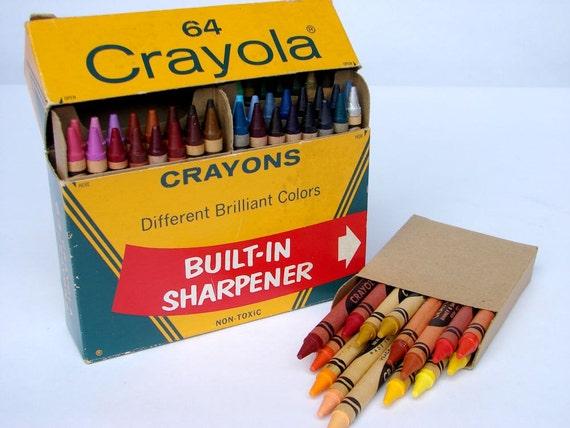 Vintage Crayola Crayons 64 ct box