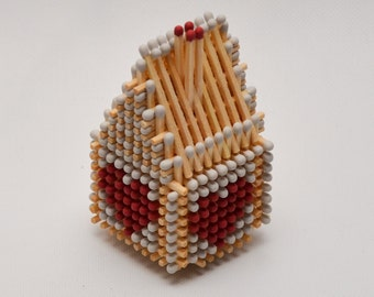 Wedding Decoration Matchstick House with Two Hearts