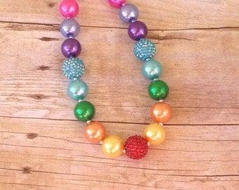 Rainbow Chunky bubblegum necklace