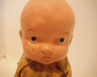 40s wind- up celluloid doll