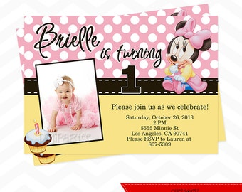 Baby Minnie Mouse Invitation