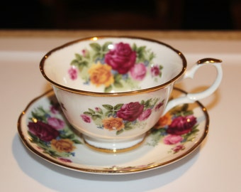 Vintage David Michael Bone China Staffordshire Saucer / Cup /