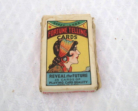 Vintage 1920s tarot cards Gypsy Lore Fortune Telling Cards