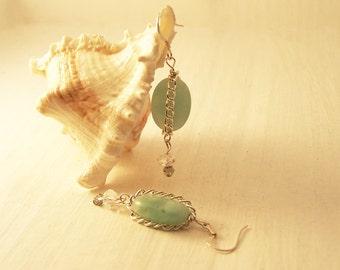 Handmade Amazonite & Swarovski Earrings