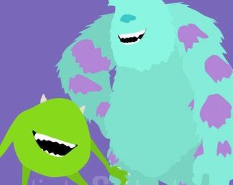 Monsters Inc. Minimalist Poster