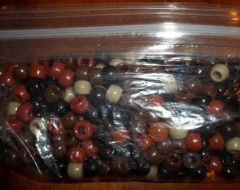 Mix of Brown Pony Beads