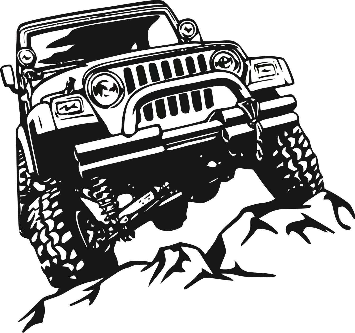 Jeep Decal Garage Home Decor Wall Hanging Graphic Design