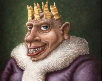 Lowbrow Pop Surrealism original painting by Pete Gorski titled: The King