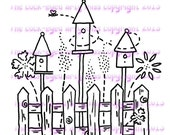 A digital stamp/image instant download.... Birdhouses on a Summer's Day