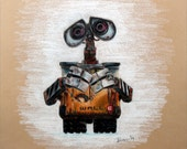 6in x 9In Print of a Reese Hilburn Original Prisma Colored Pencil Drawing: Wall-E