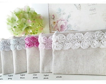 Bridemaids small lace purse pouch rose purse wedding gift bridesmaids gift