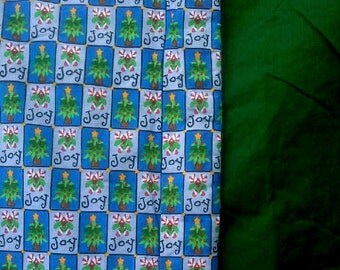 Hand Crafted Holiday Blanket - Trees And Candy Canes