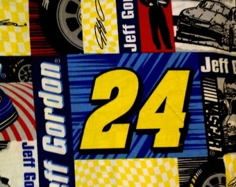Hand Crafted Jeff Gordon Squares.  Print Pillow