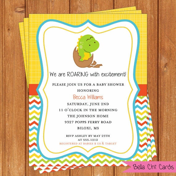 dinosaur invitation baby shower printable editable digital pdf