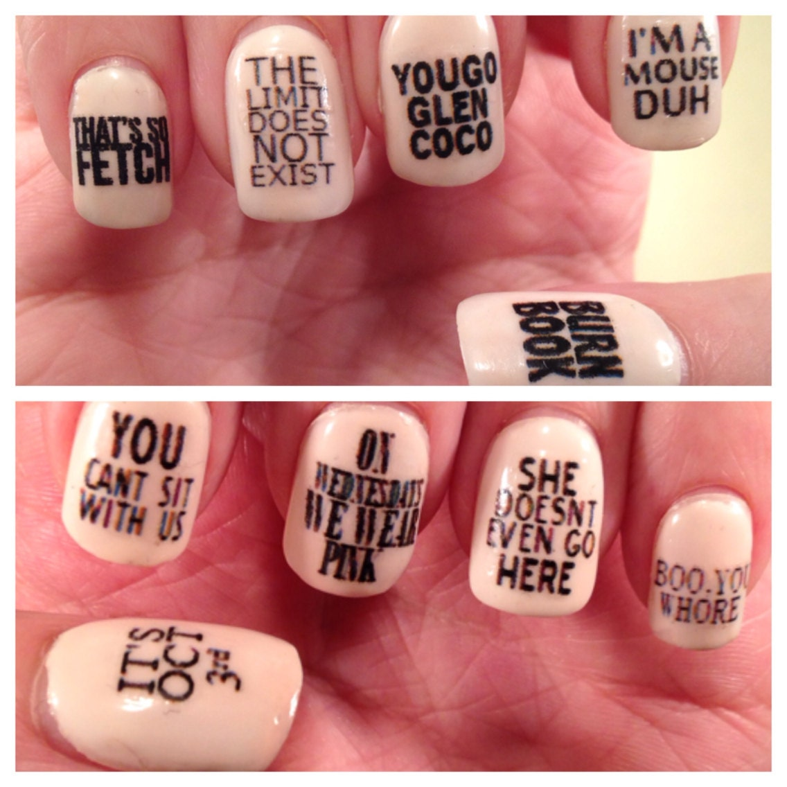 Mean Girls Quotes Nail Decals-6569