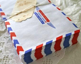 60 Large Air Mail Envelopes, Vintage Retro Style BULK