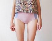 These Amaranth Pink Hipster style panties with mild LAVENDER SIDES by Egretta Garzetta underwear