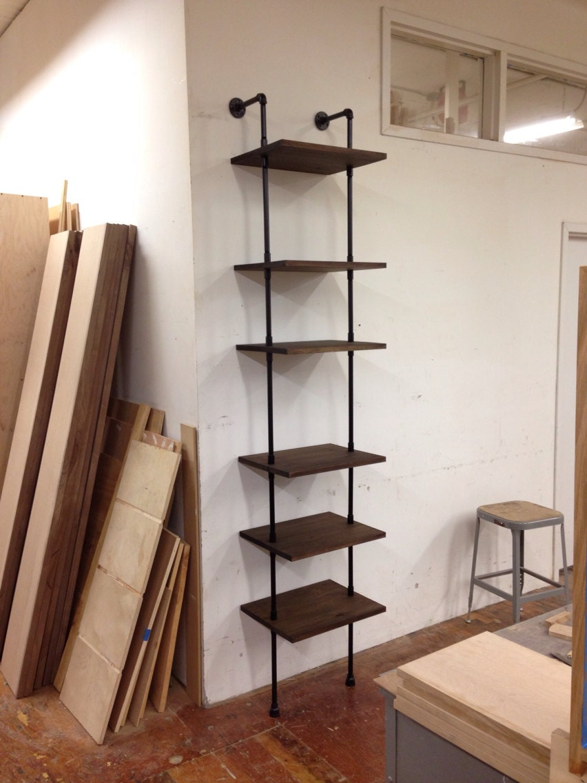 skinny shelving unit by cushdesignstudio on etsy