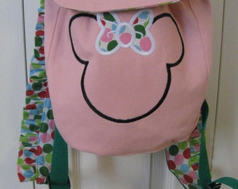 Miss Minnie Personalized Toddler Backpack