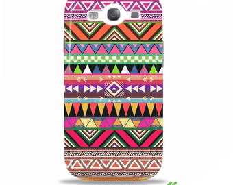 "Samsung Galaxy s3 i9300 - Artist Designed case / cover / shell - ""Overdose"" - colorful aztec tribal"