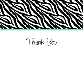Teen Zebra Thank You Notes