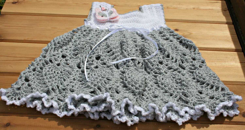 Toddler Dress 12 18 24 Months Crochet Baby Dresses Handmade