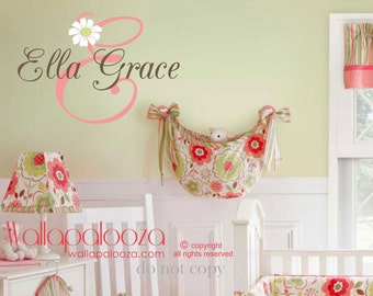 Girls Name Wall Decal - Childrens Wall Decals - Personalized Name Vinyl Wall Decal