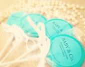 Tiffany's Inspired Gourmet Lollipops  - Set of 20 - Tiffany's Baby Shower Favors - Tiffany's Bridal Shower - Tiffany Blue