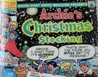 Archies Christmas Stocking Comic Book Jan 1989 Number 592