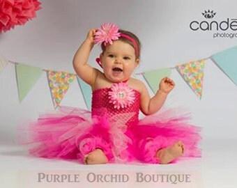 Hot Pink and Bubblegum Tutu Dress