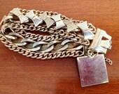Vintage 1950's Chunky Gold Bow Bracelet