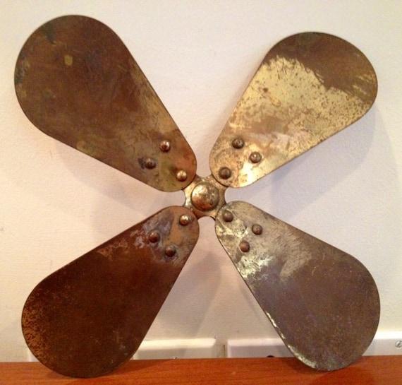 Propeller Fan Blades : Sale vintage brass propeller fan blades steampunk up cycle
