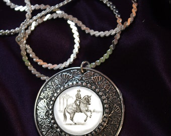 Dressage Horse in Canter Pirouette Pendant