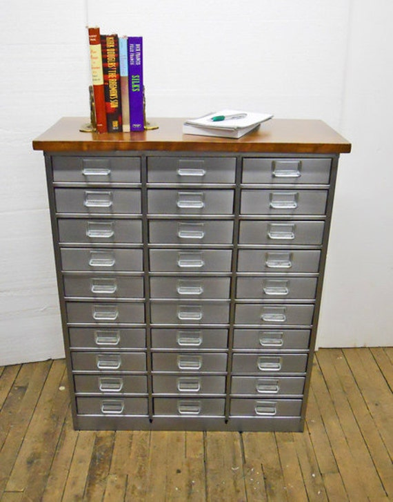 Reserved Vintage Metal Organizer Parts Cabinet 30 Drawers