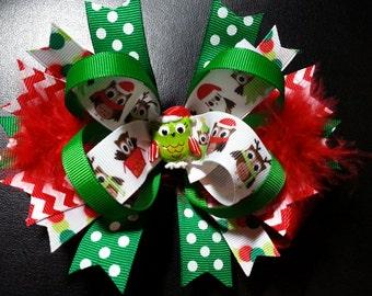 Hootie Owl Christmas Bow