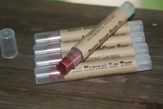 All Natural Crimson Cranberry Lip Tint  slim tube