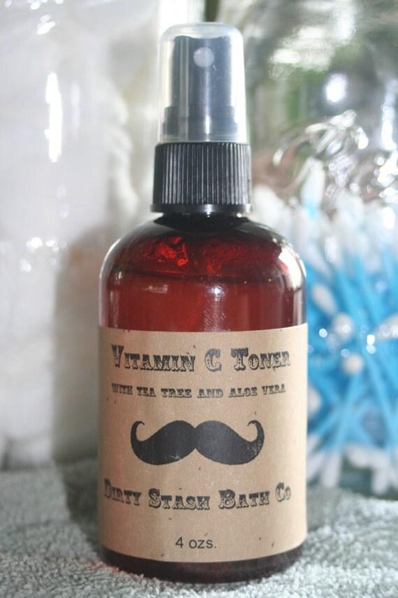 Vitamin C Toner for Oily/Acne Skin with tea tree oil 4 ozs