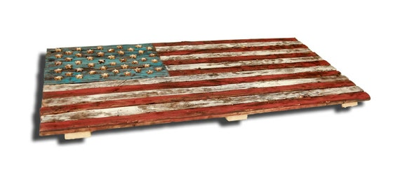 Wood American Flag Wall Art american flag weathered wood one of a kind 3d wooden