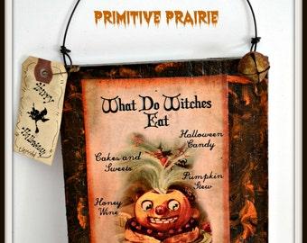 Primitive Halloween Witch, Halloween witch decoration, Halloween witch sign, Halloween decoration FAAPFALL