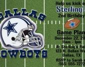 Dallas Cowboys Football Invitation OR Thank you card
